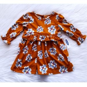 NWT Old Navy Floral Print Dress Size 12-18 Months